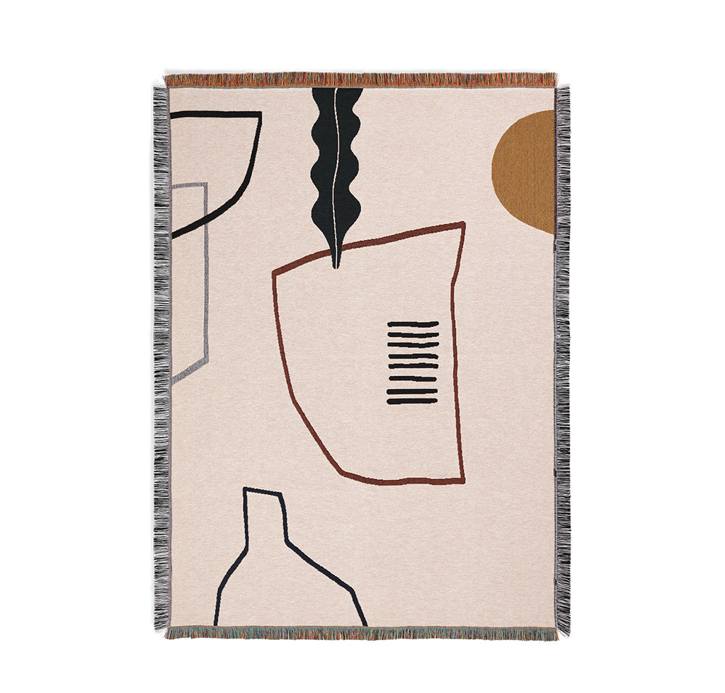 Ferm Living Mirage Blanket: Off White - The Union Project