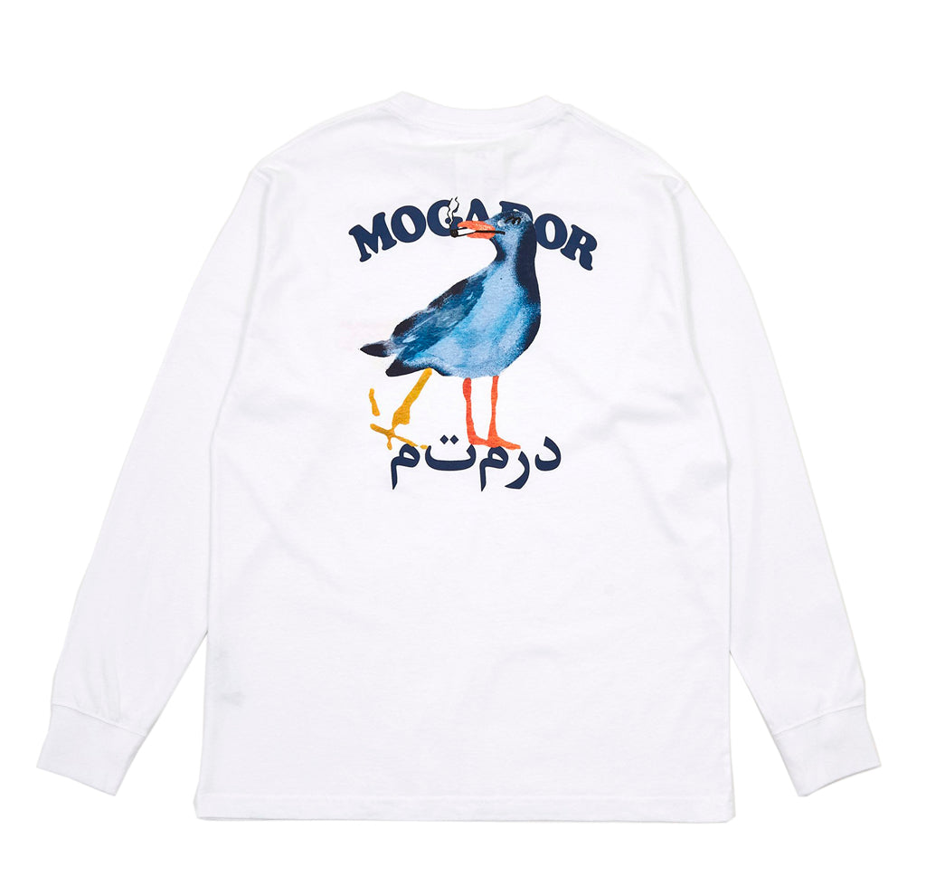 Reception Mogador L/S T-Shirt: White - The Union Project