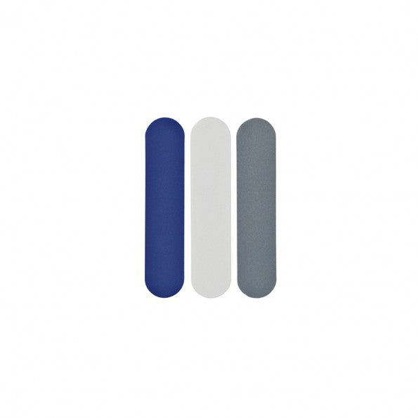 Wellbeing Nomess Nail Files Small (3pcs): Grey/White/Blue - The Union Project, Cheltenham, free delivery