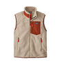 Patagonia Classic Retro-X Vest: Natural w/ Barn Red