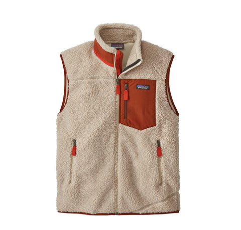 Hoods & Sweats Patagonia Classic Retro-X Vest: Natural w/ Bran Red - The Union Project, Cheltenham, free delivery
