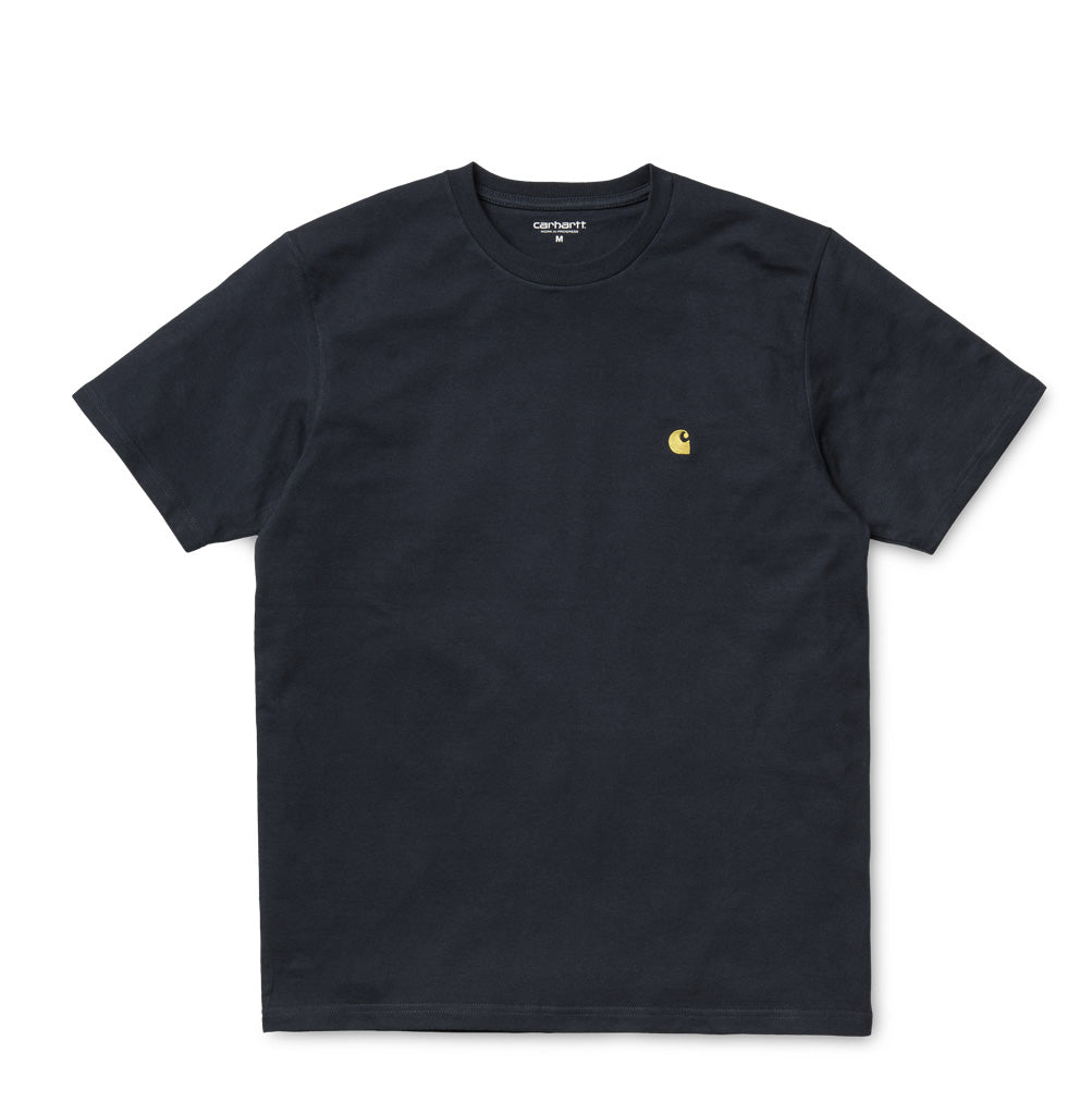 Carhartt WIP Chase T-Shirt: Dark Navy - The Union Project