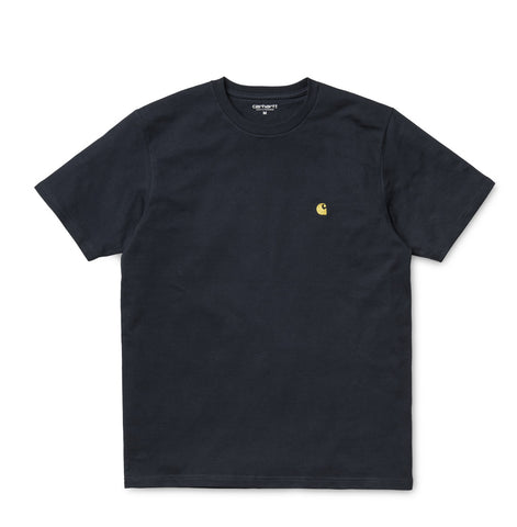 T-Shirts Carhartt WIP Chase T-Shirt: Dark Navy - The Union Project, Cheltenham, free delivery