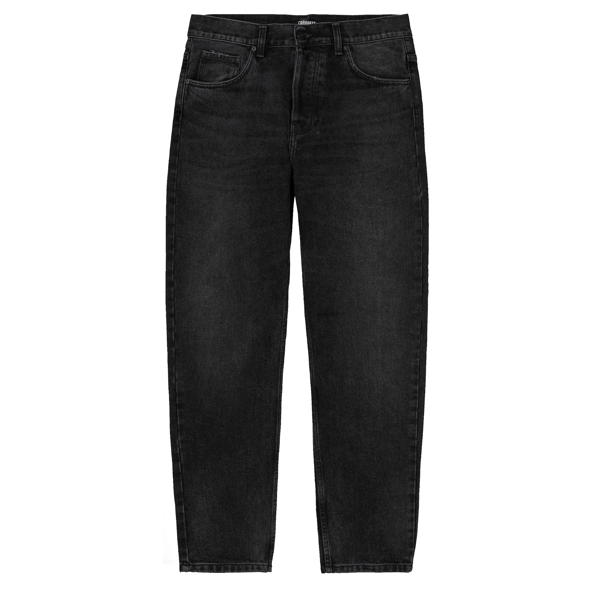 Carhartt WIP Newel Pant: Black Mid Worn Wash - The Union Project