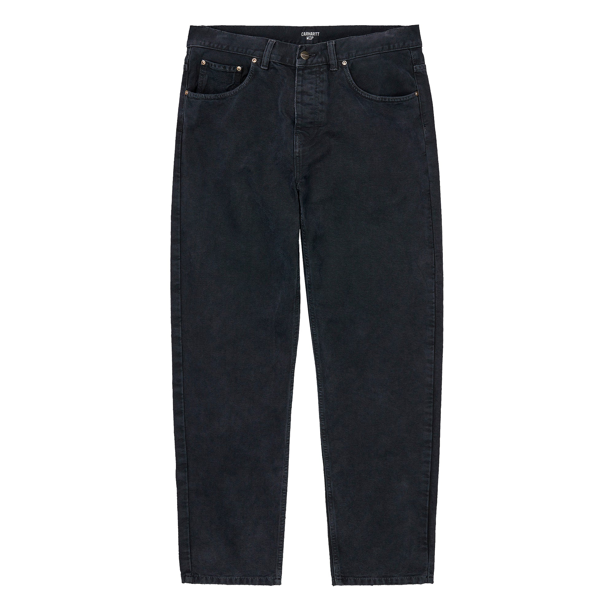 Carhartt WIP Newel Pant: Black Worn Canvas - The Union Project