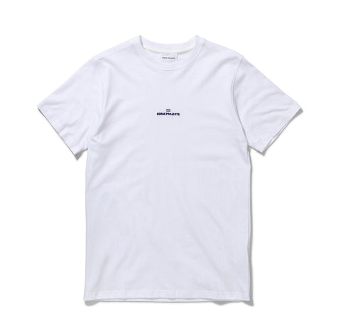 Norse Projects Niels Wave Logo: White