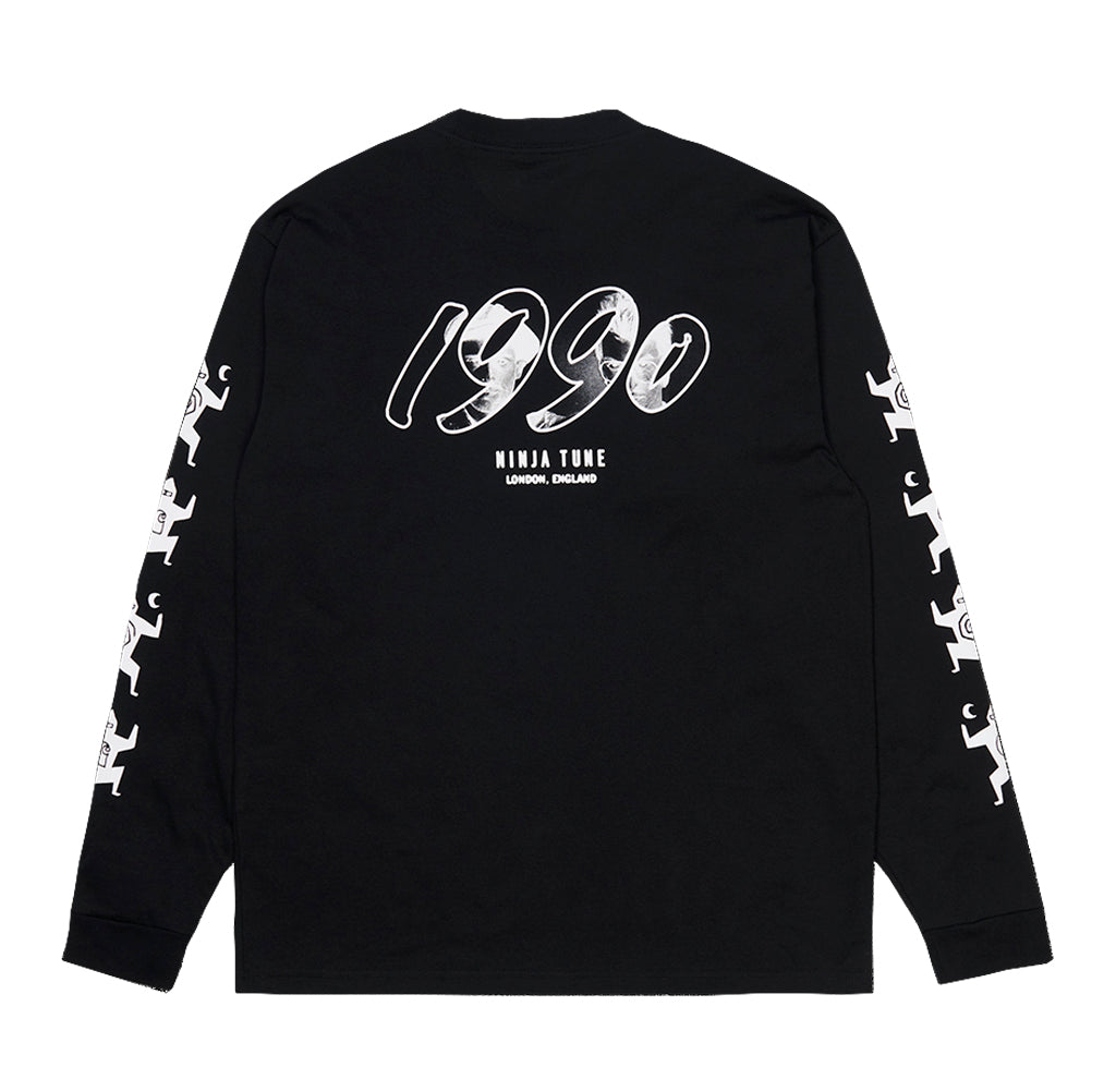 LS T-Shirts Carhartt WIP x Relevant Parties L/S Ninja Tune T-Shirt: Black / White - The Union Project, Cheltenham, free delivery