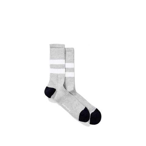 Norse Projects Bjarki Cotton Sport Socks: Light Grey Melange - The Union Project