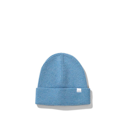 Norse Projects Women's Lambswool Beanie: Pale Blue