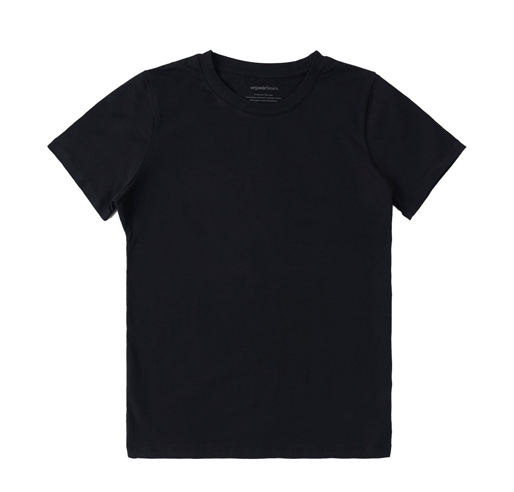 Organic Basics Tee: Black - The Union Project