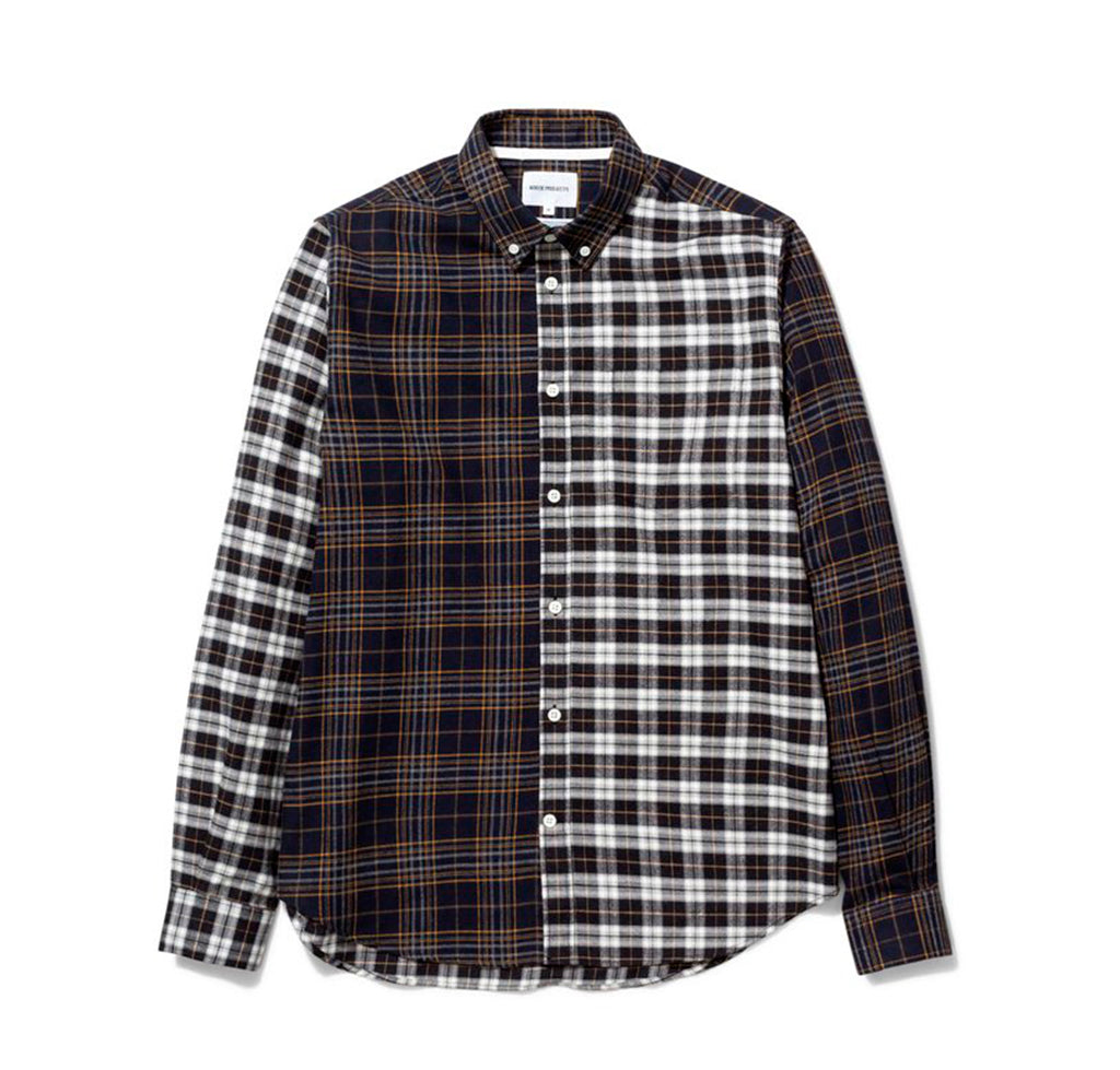 Norse Projects Osvald Brushed Flannel Mix: Multi Colour - The Union Project