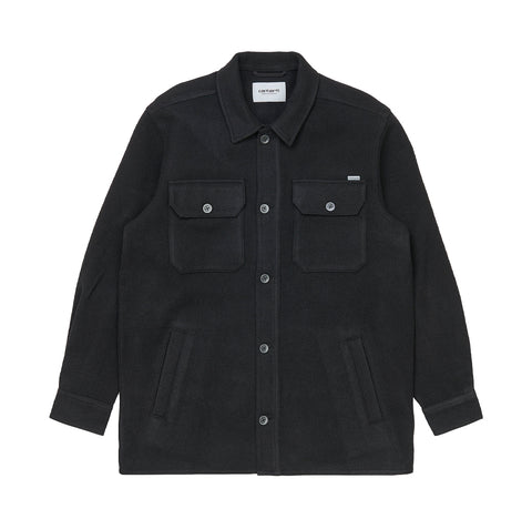 Shirts Carhartt WIP Owen Shirt Jac: Black - The Union Project, Cheltenham, free delivery