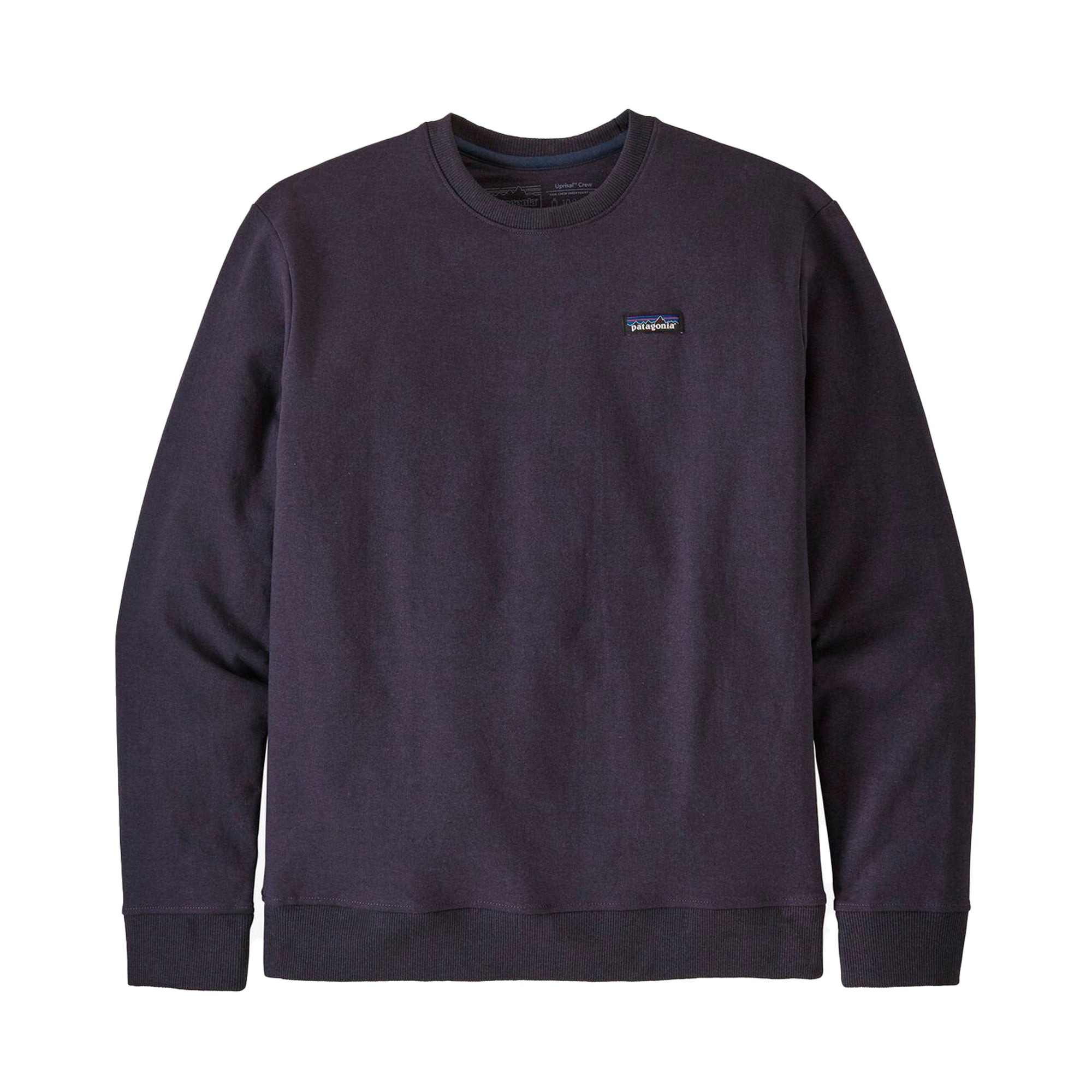 Patagonia P-6 Label Uprisal Crew Sweatshirt: Piton Purple - The Union Project