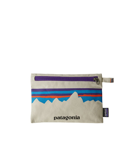 Patagonia Zippered Pouch: P-6 Fitz Roy: Bleached Stone