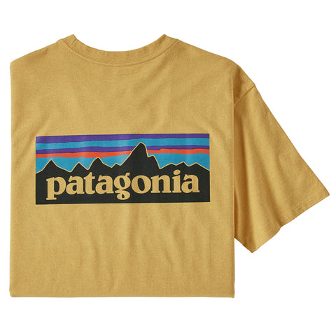 T-Shirts Patagonia P-6 Logo Responsibili-Tee: Surfboard Yellow - The Union Project, Cheltenham, free delivery