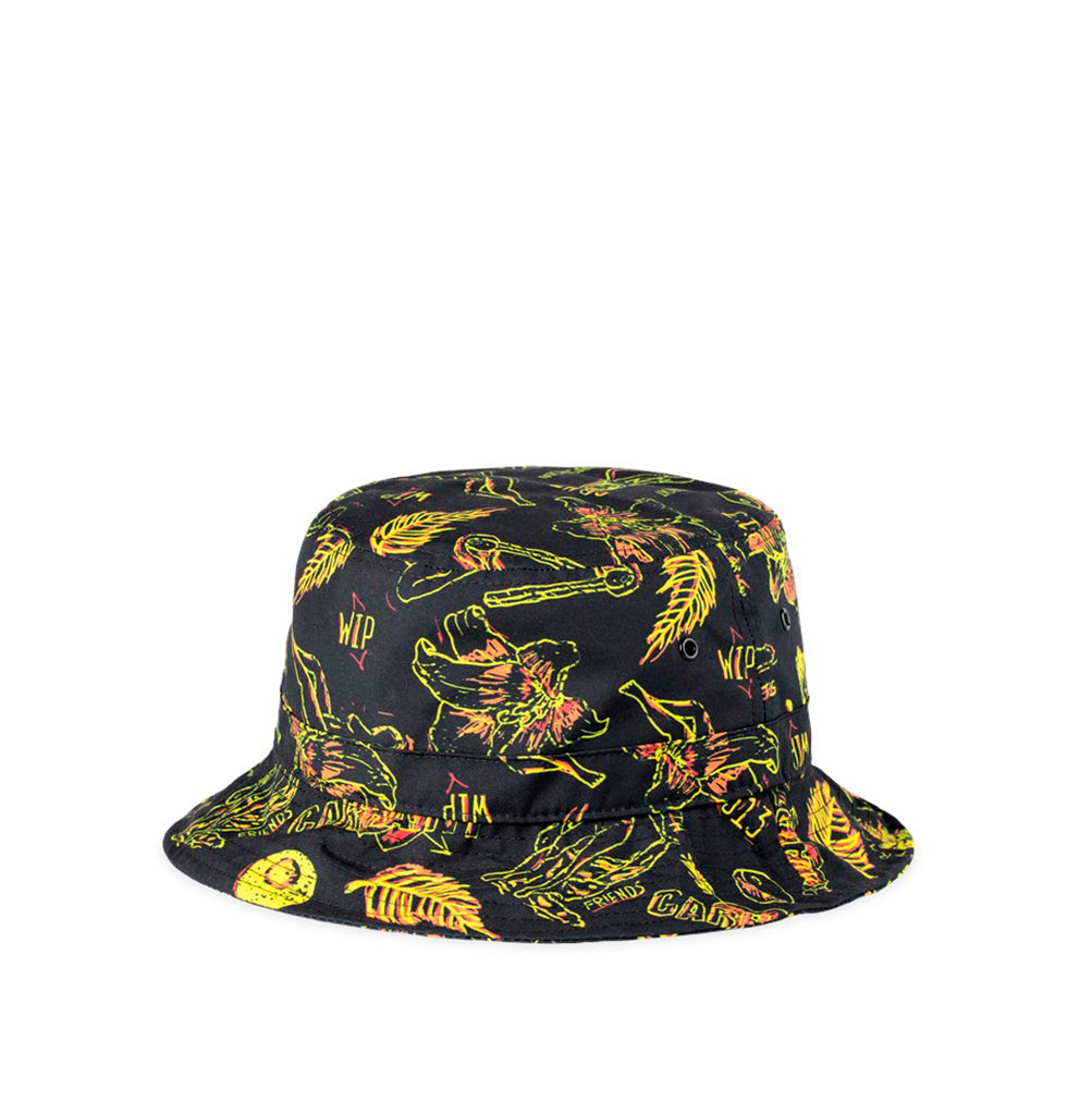 Carhartt WIP Paradise Check Bucket Hat: Yellow / Black - The Union Project