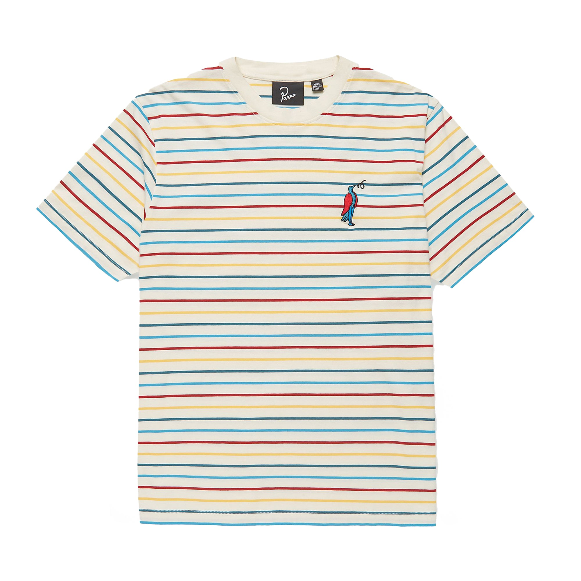 Parra Staring Striped T-Shirt: Multi - The Union Project