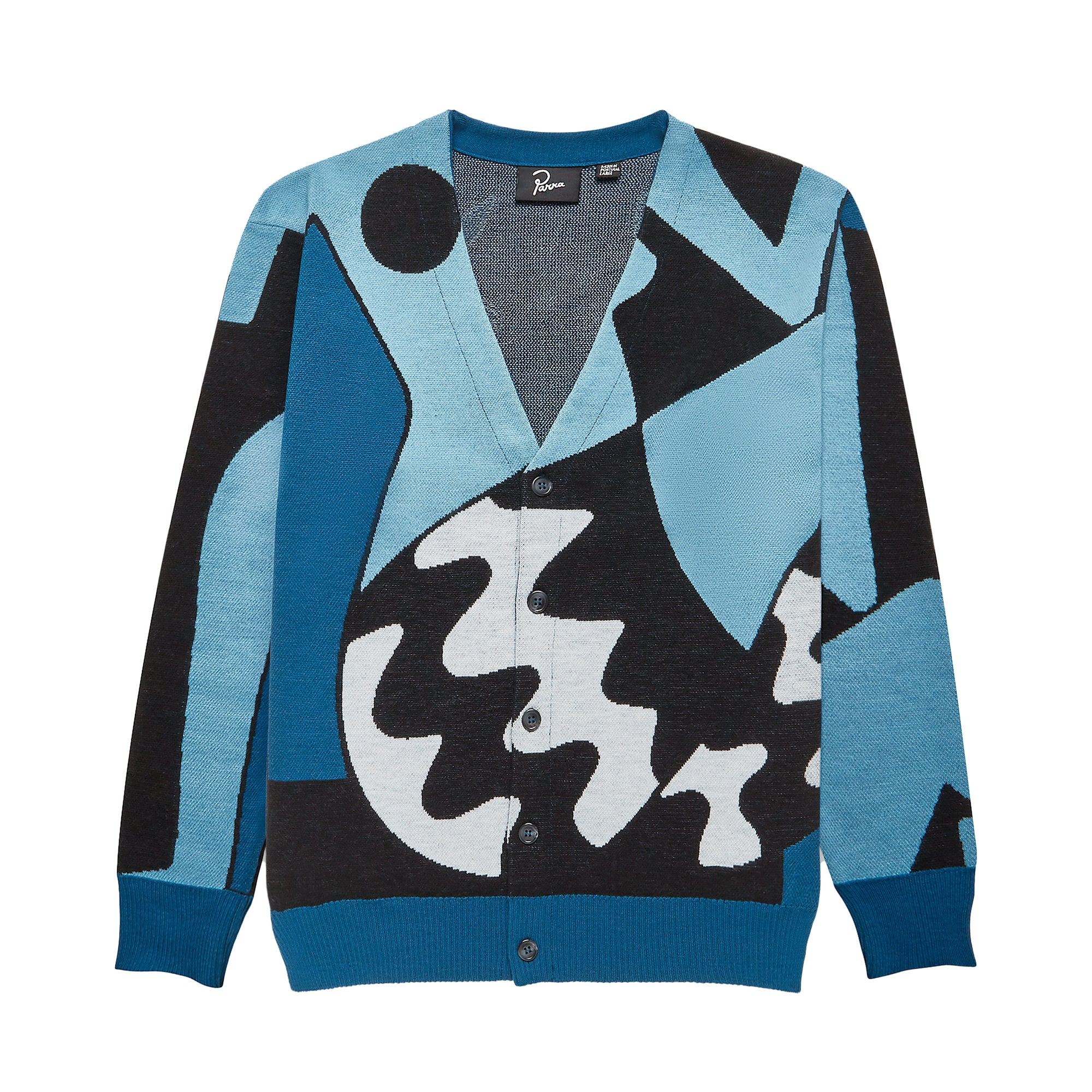 Parra Too Loud Knitted Cardigan: Multi - The Union Project