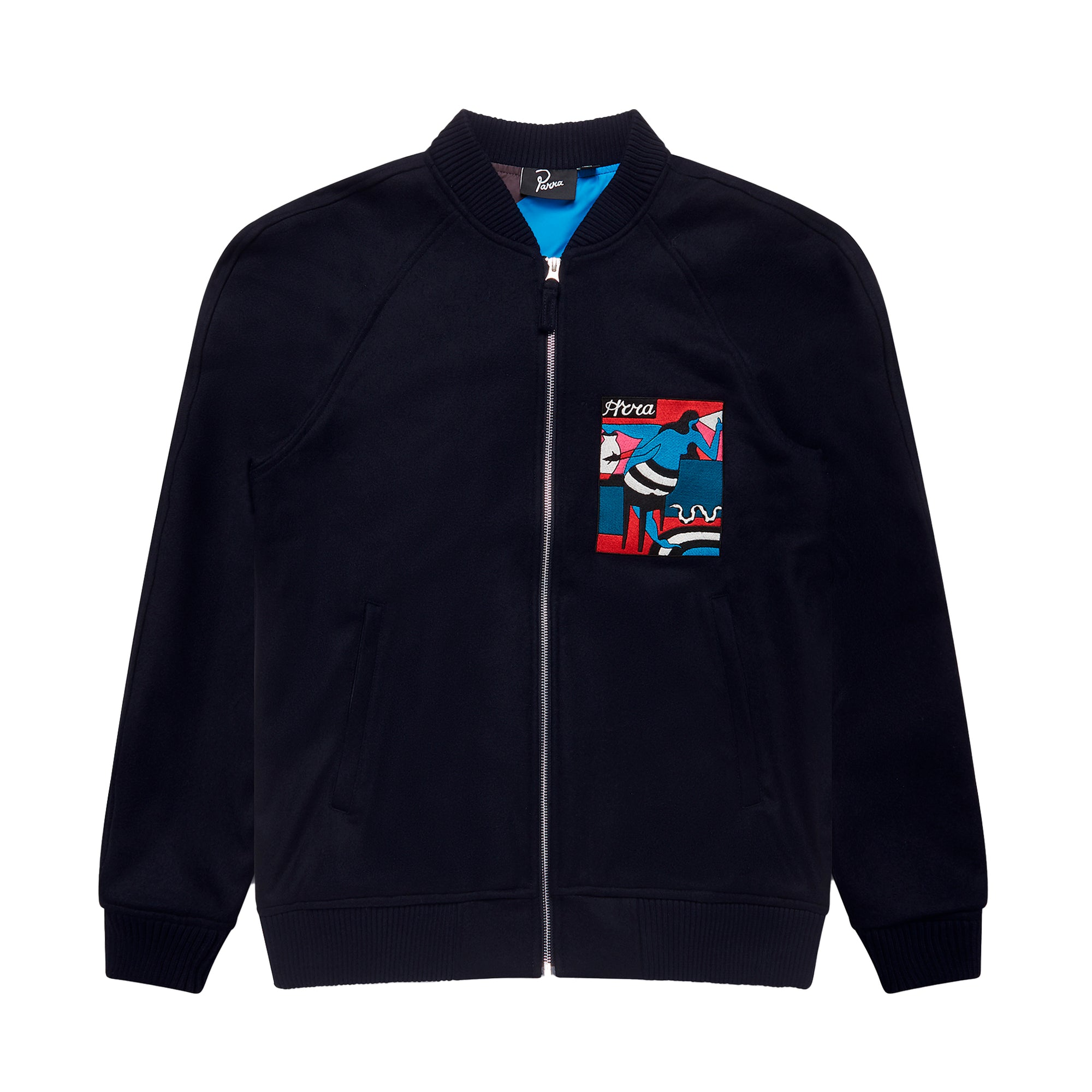 Parra Bar Messy Wool Jacket: Dark Navy - The Union Project