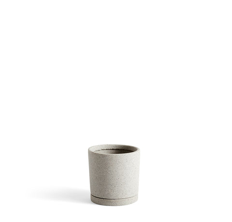Plant Pots + Vases HAY Plant Pot w/ Saucer M: Grey - The Union Project, Cheltenham, free delivery