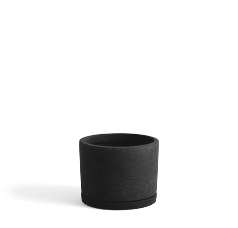 Plant Pots + Vases HAY Plant Pot w/ Saucer L: Black - The Union Project, Cheltenham, free delivery