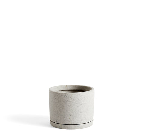 Plant Pots + Vases HAY Plant Pot w/ Saucer L: Grey - The Union Project, Cheltenham, free delivery