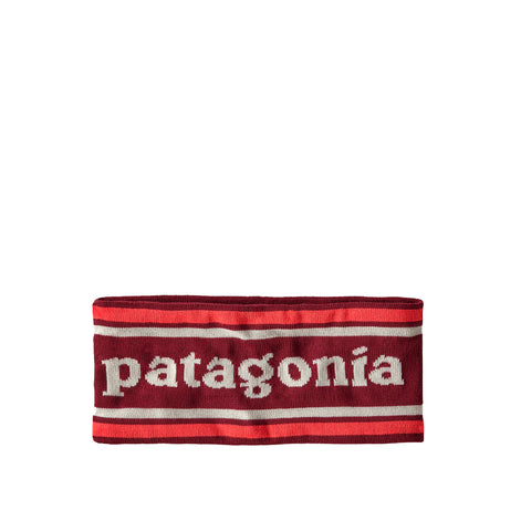 Patagonia Powder Town Headband: Park Stripe Knit: Roamer Red
