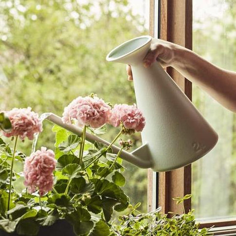 Hay Watering Can: Light Grey