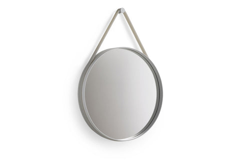 Mirrors HAY Strap Mirror Ø70: Grey - The Union Project, Cheltenham, free delivery