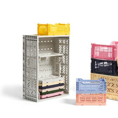 Organisers + Storage Colour Crate L: Light Grey - The Union Project