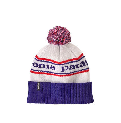 Patagonia Powder Town Beanie: Park Stripe: Viking Blue
