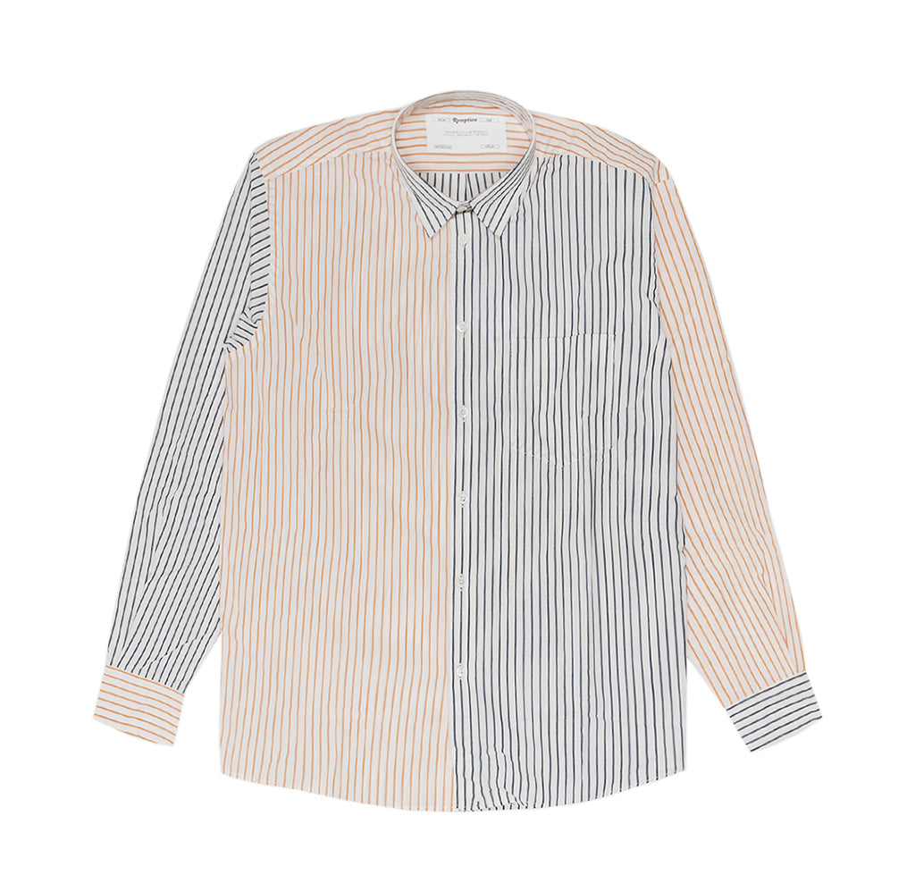 Reception Financial Poplin Shirt: Multi Colour Stripe - The Union Project