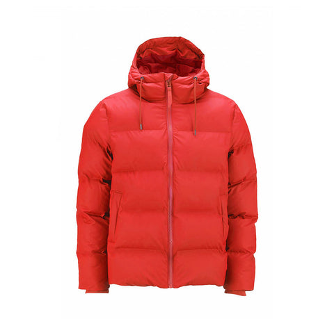 Rains Puffer Jacket: Red