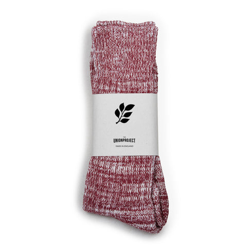 Socks Heavy Cotton Sock: Merlot - The Union Project