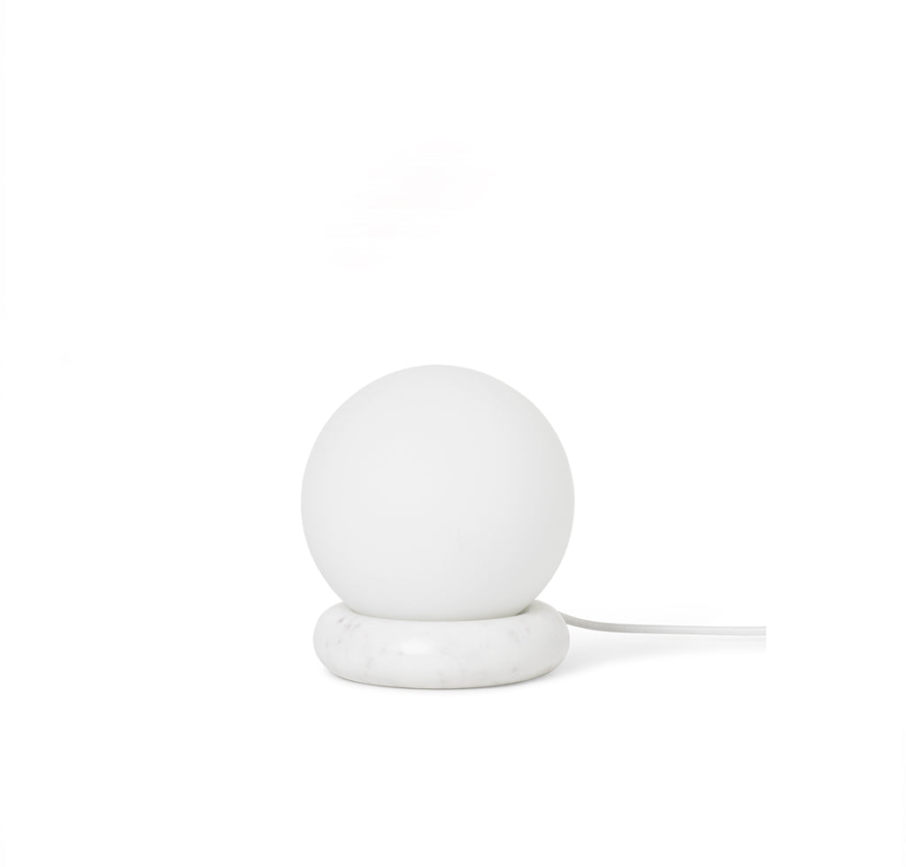 Ferm Living Rest Lamp: White Marble - The Union Project