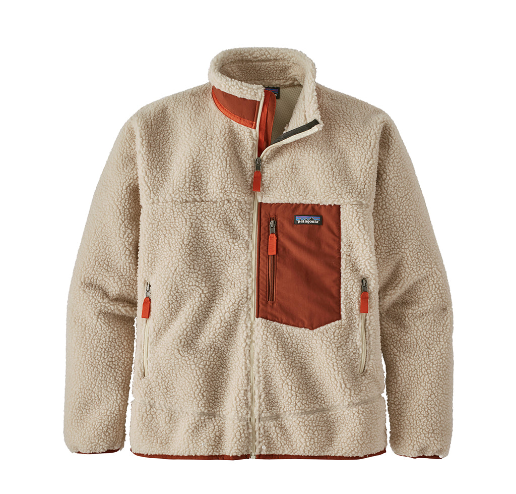 Patagonia Classic Retro-X Jacket: Natural w/ Barn Red - The Union Project