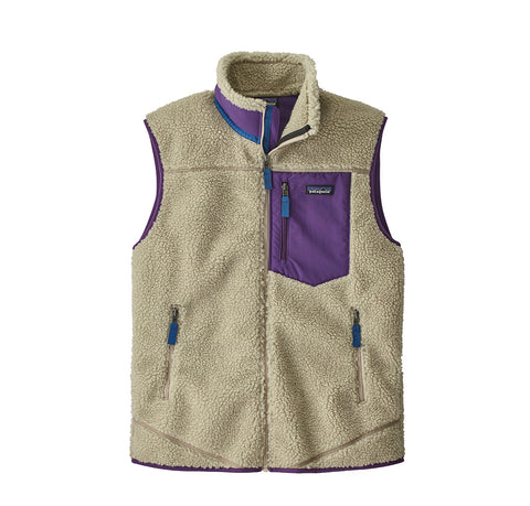 Hoods & Sweats Patagonia Classic Retro-X Vest: Pelican w/ Purple - The Union Project, Cheltenham, free delivery
