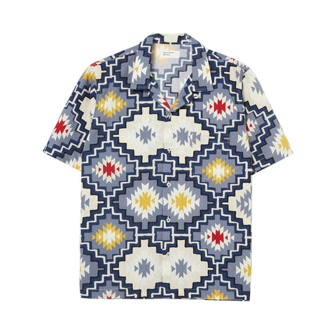 Universal Works Road Shirt: Navy Santa Fe