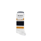 Socks Rototo New School Socks: D.Yellow / Navy - The Union Project, Cheltenham, free delivery