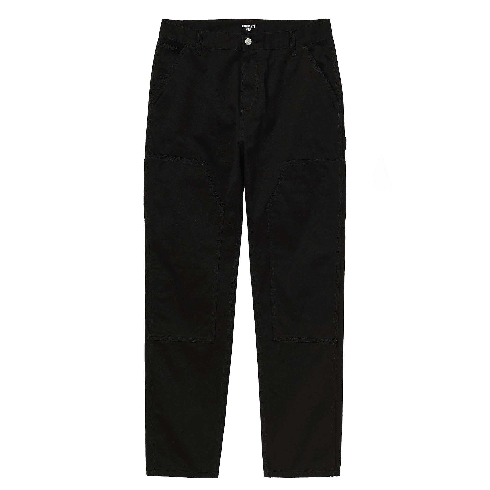 Carhartt WIP Ruck Double Knee Pant: Black Stone Wash - The Union Project
