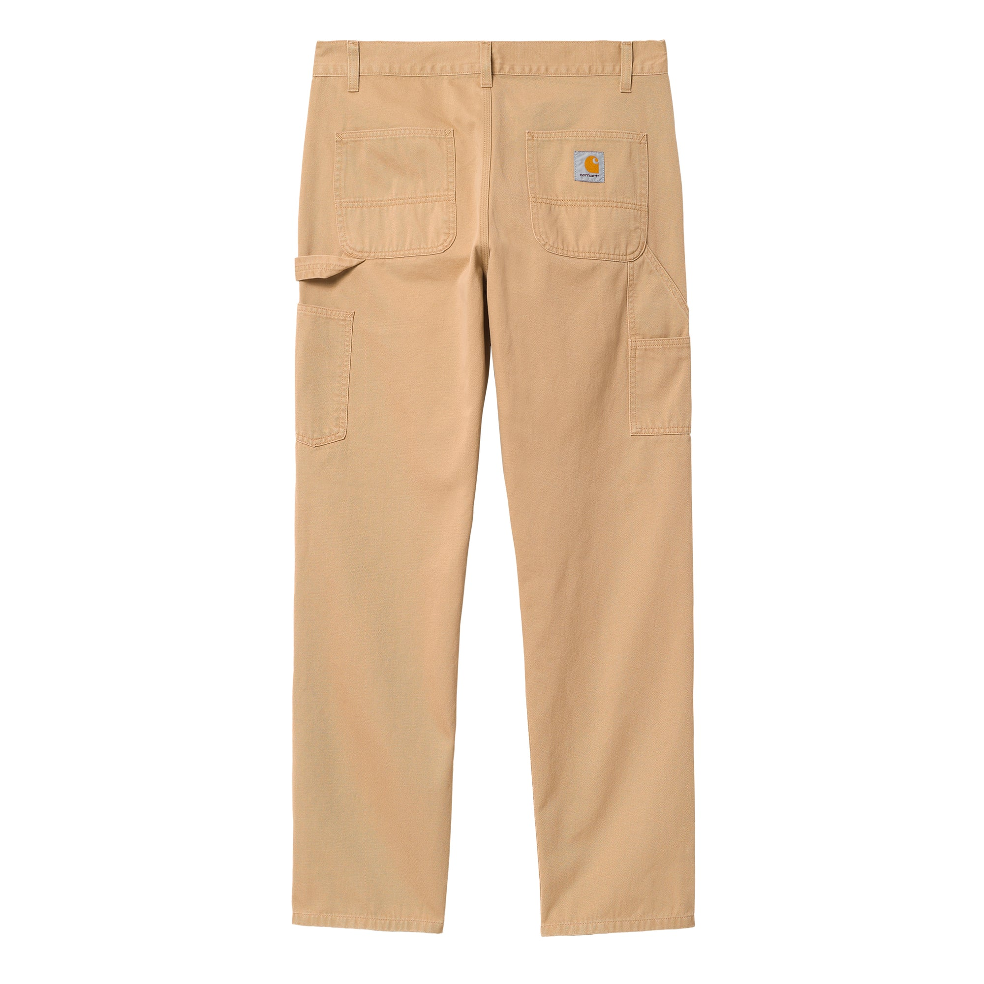 Carhartt WIP Ruck Double Knee Pant: Dusty Hamilton Brown Stone Wash