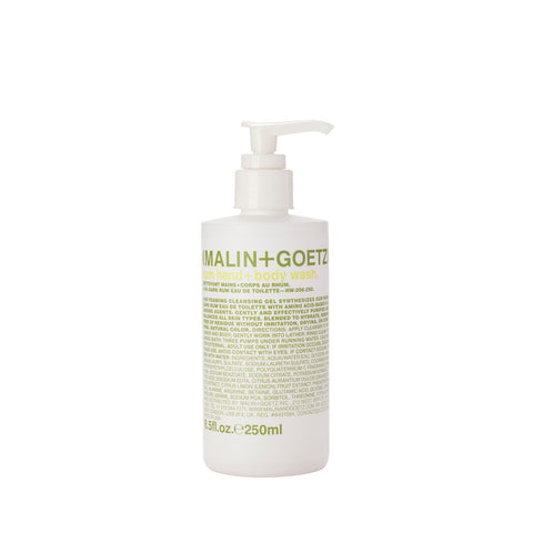 Skincare + Fragrance Malin + Goetz Rum Hand & Body Wash: 250ml - The Union Project, Cheltenham, free delivery