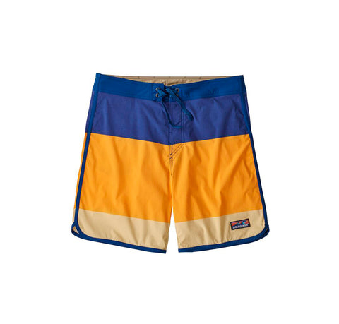 Shorts Patagonia Scallop Hem Stretch Wavefarer Boardshorts: Color Block Breakup: Saffron - The Union Project, Cheltenham, free delivery