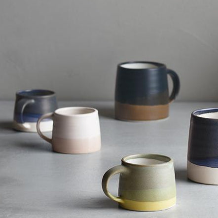 Ceramics SCS-S03 Mug: Moss Green x Yellow - The Union Project