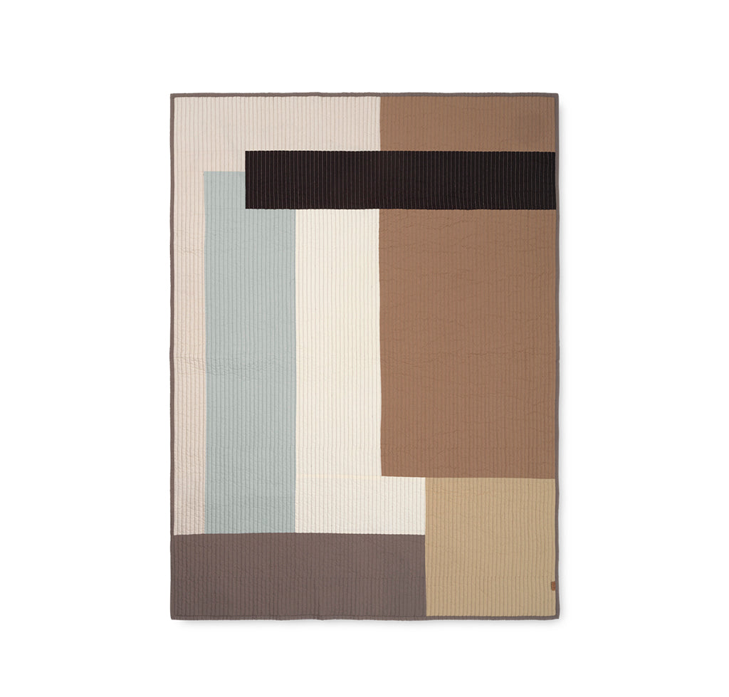 Throws & Blankets Ferm Living Shay Patchwork Quilt Blanket: Desert - The Union Project, Cheltenham, free delivery