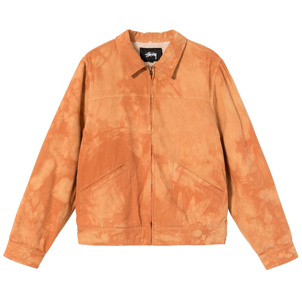 Stussy Shearling Dyed Trucker Jacket: Brown - The Union Project