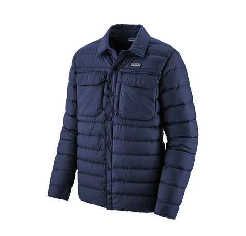 Patagonia SIlent Down Shirt Jacket: Classic Navy