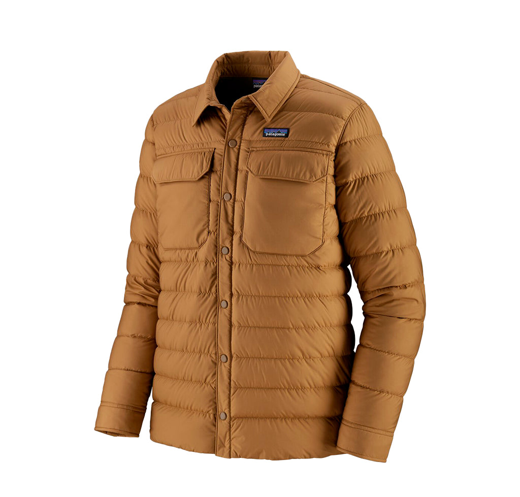 Outerwear Patagonia SIlent Down Shirt Jacket: Nest Brown - The Union Project, Cheltenham, free delivery