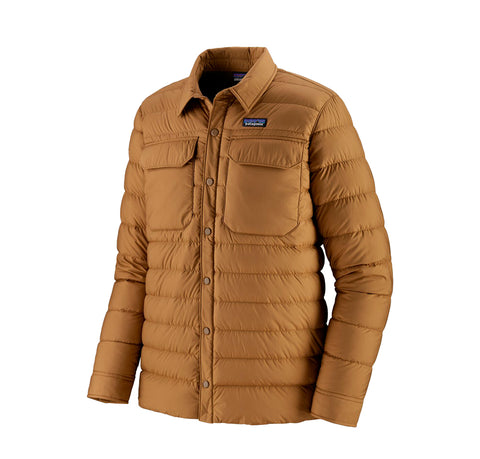 Patagonia SIlent Down Shirt Jacket: Nest Brown