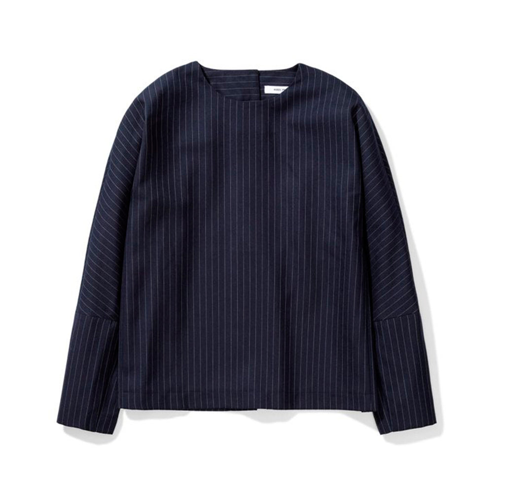 Norse Projects Womens Silla Stripe: Dark Navy - The Union Project